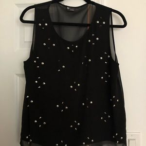 Urban Outfitters Black blouse with silver studs